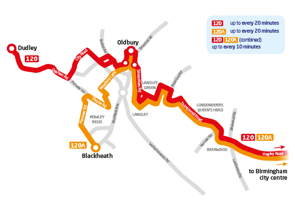 Black Country Service Changes From Sunday 23rd April 2017