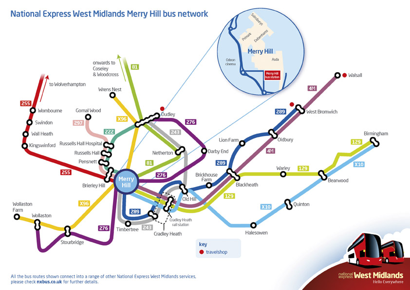 Getting To Intu Merry Hill  Information  Buses To  From