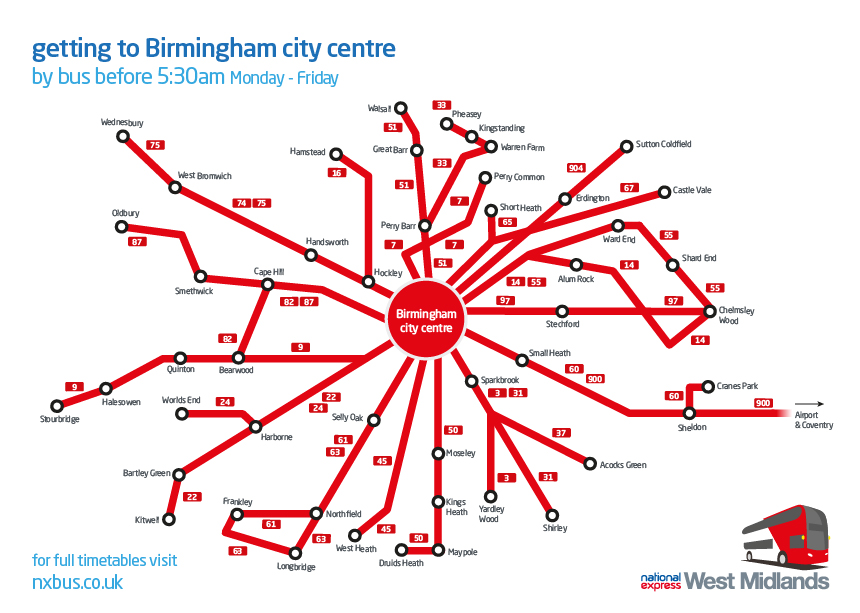 Early Buses To Birmingham City Centre National Express
