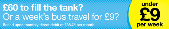£60 to fill the tank? Save with a Travelcard by Direct Debit