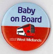Baby on board badge image