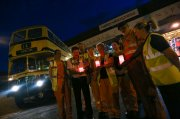 Lights out on the buses as the West Midlands Remembers