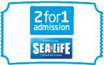 2for1 at the National Sea Life Centre