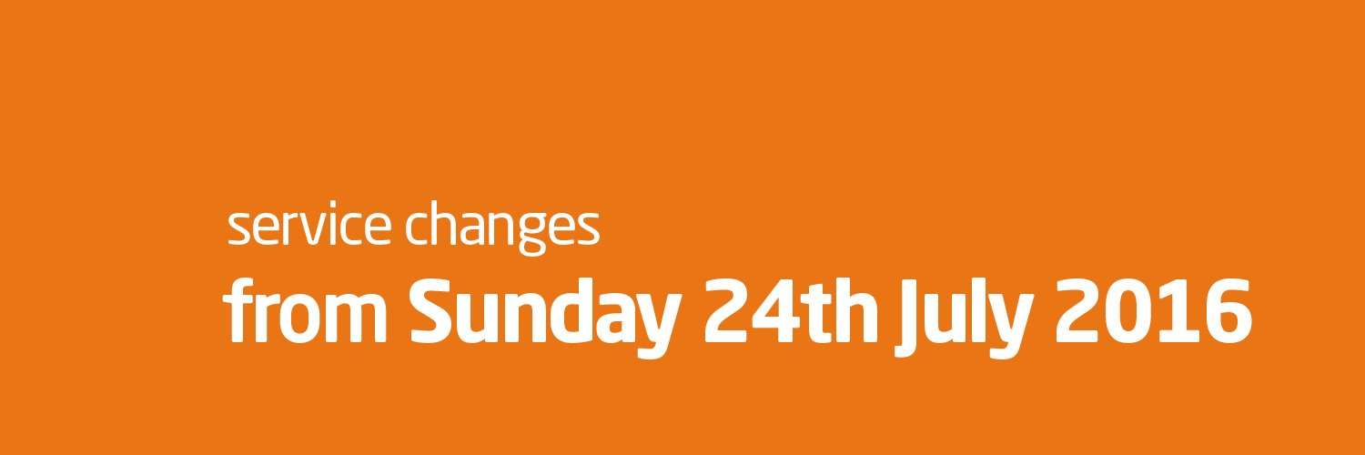 Service changes from 24th July 2016