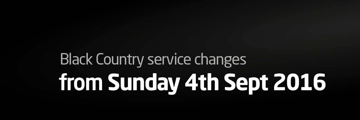 Black Country Service Changes from 4th September