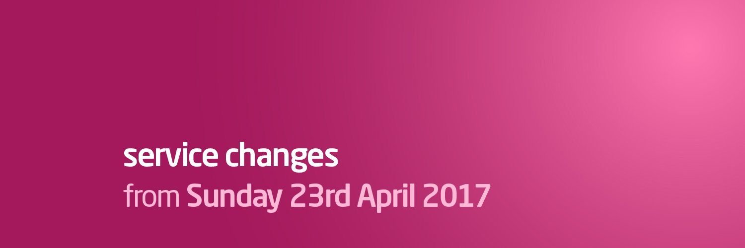 Service Changes from Sunday 23rd April 2017