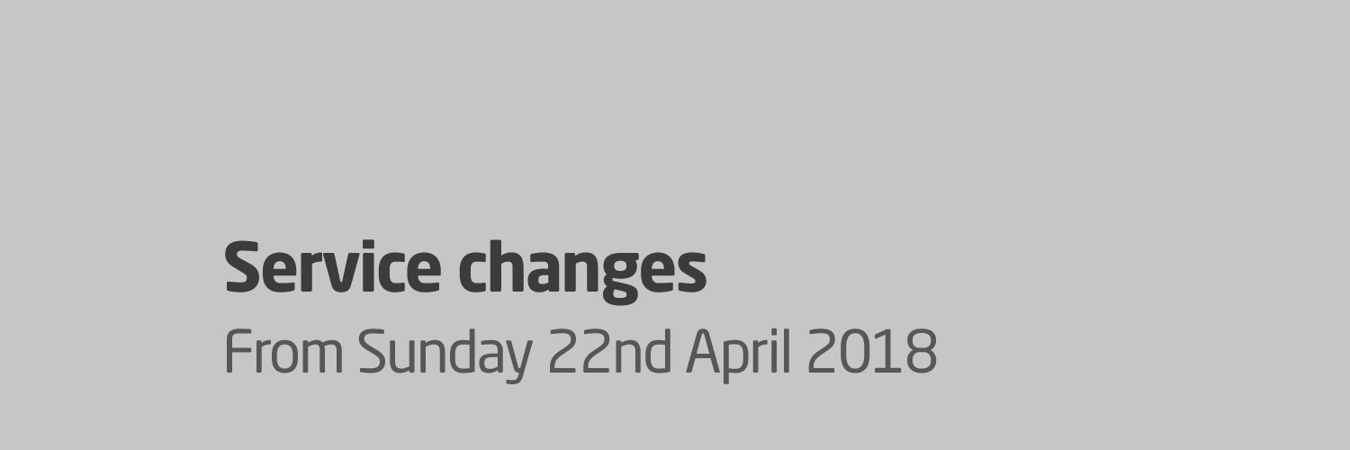 Black Country Service Changes from Sunday 22nd April