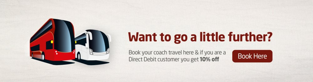 If you have a Monthly Direct Debit with National Express Bus, you now get 10% off National Express Coach Travel!