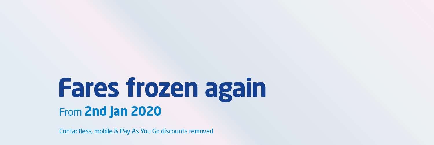 Fares frozen again for 2020