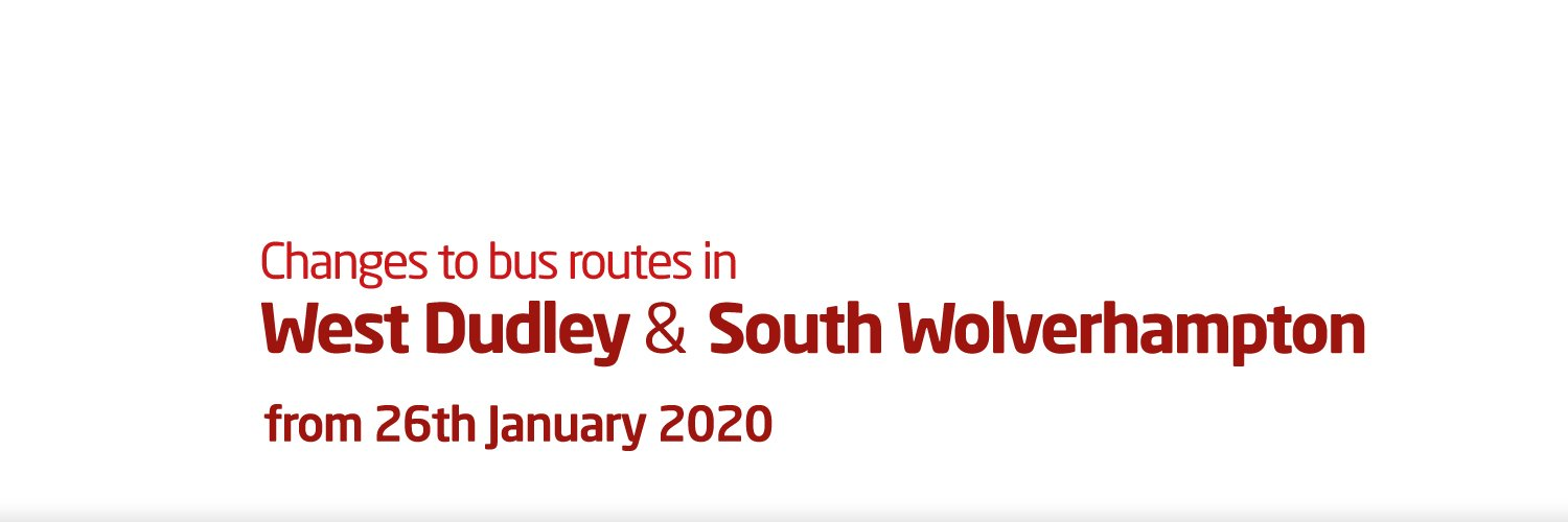 West Dudley and South Wolverhampton service changes from 26th January 2020