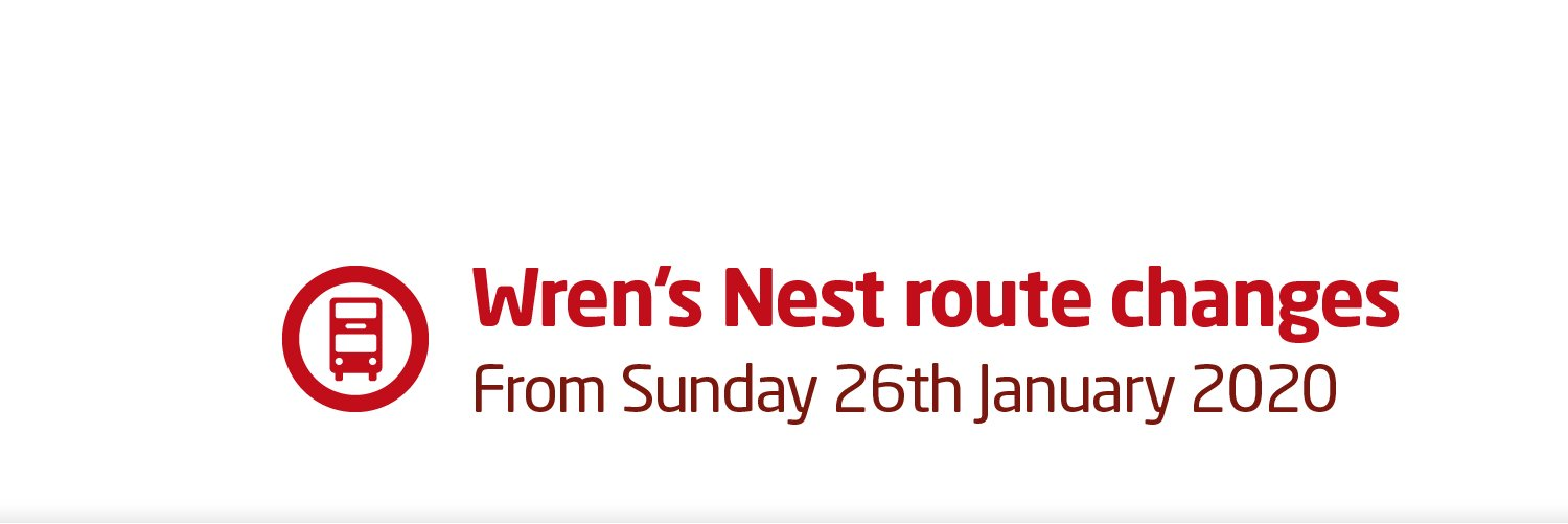 Changes to services in the Wren's Nest area from 26th January 2020