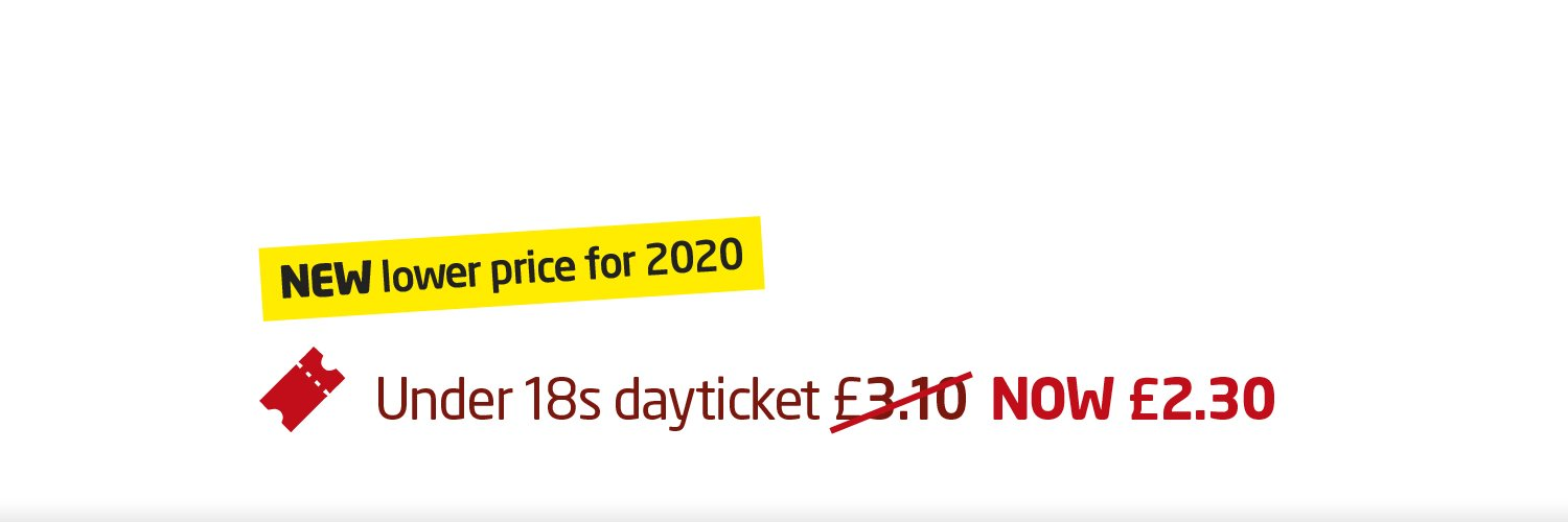 Under 18 Ticket - New Lower Price for 2020