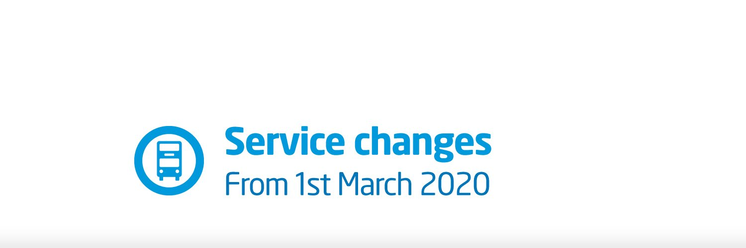 Service changes from 1st March 2020