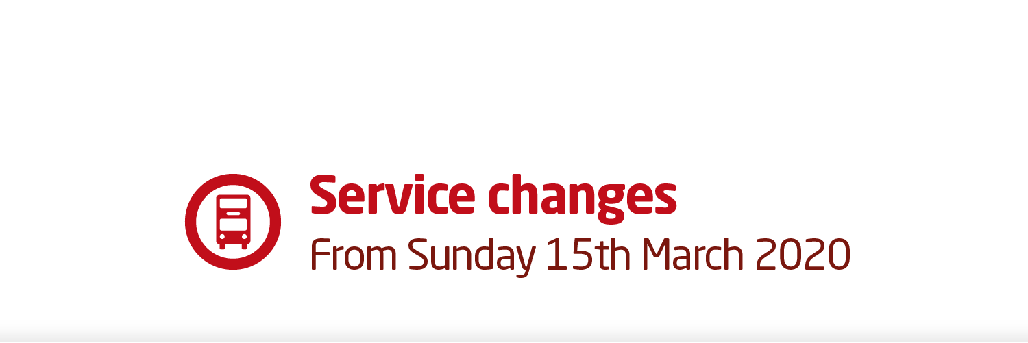 Service changes Sunday 15 March 2020