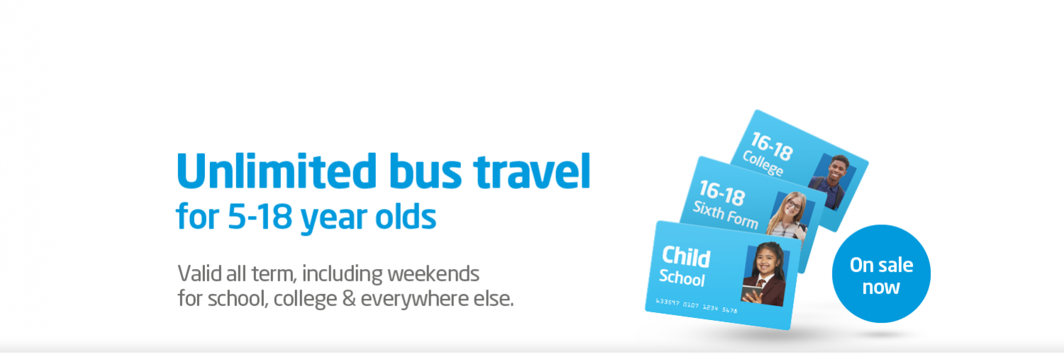 Unlimited Bus Travel for 15-18  Year Olds