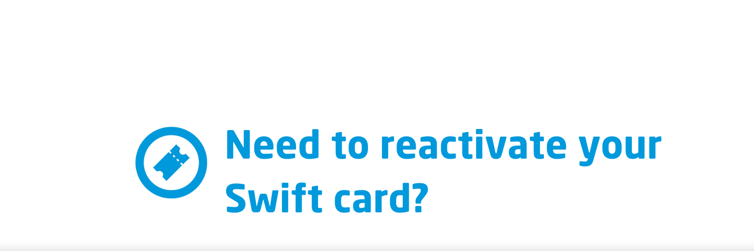 Had a Swift card and need to travel with us again?