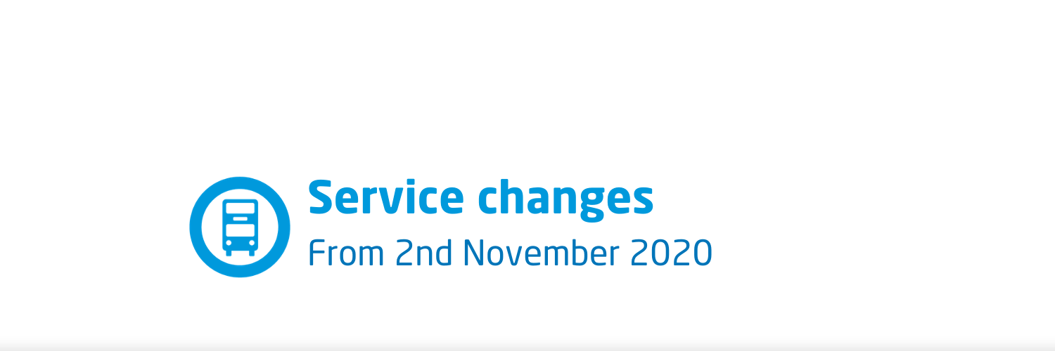 Service changes from 2nd November 2020