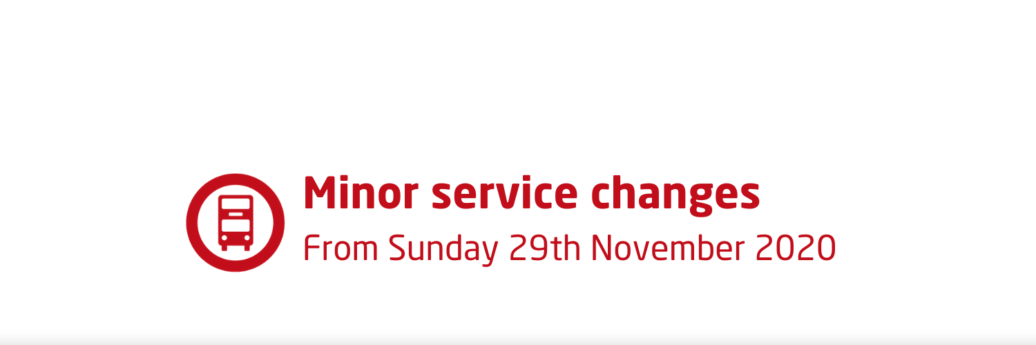 Minor service changes from Sunday 29th November